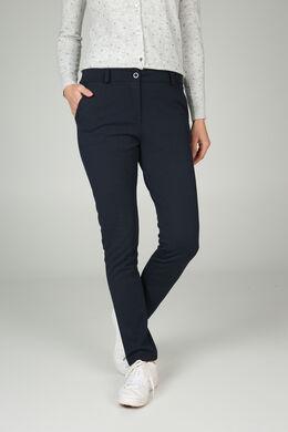 Broek in dik tricot, Marineblauw