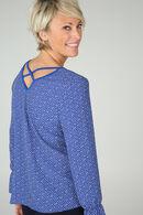 Bedrukte bloes, Koningsblauw