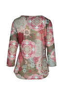 T-shirt bedrukt met rozetten, Roze