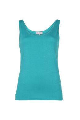 Effen top, Turquoise