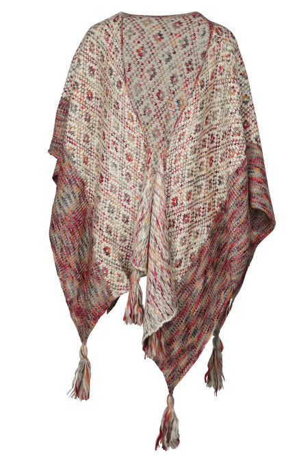 Poncho in tricot - Bordeaux