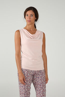 Top met watervalkraag, Blush