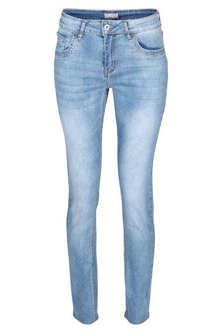 Jeans slim avec strass - Denim