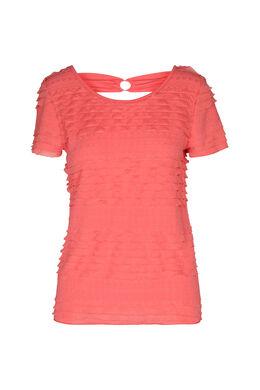 T-shirt à volants, Corail