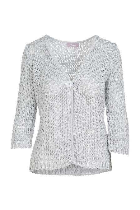Cardigan en maille tricot - Gris-clair