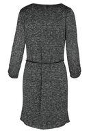Robe en maille lurex, Noir/Ecru