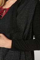 Cardigan à pans détail lurex, Noir