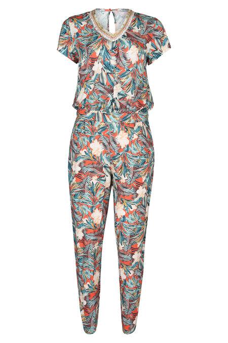 Jumpsuit met tropische print - Multicolor