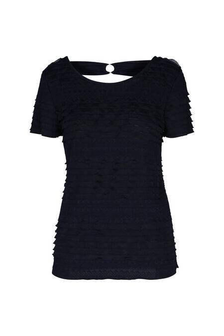 T-shirt met volants - Marineblauw