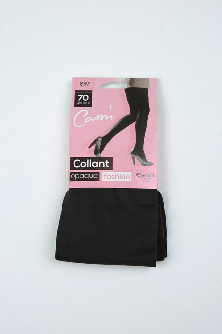 Ondoorschijnende panty - Zwart