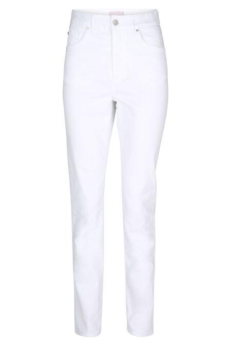 Pantalon slim en coton - Blanc