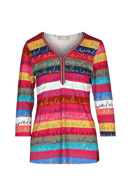 T-shirt coloré avec écriture - multicolor