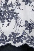 Bloes met borduurwerk onderaan, Marineblauw