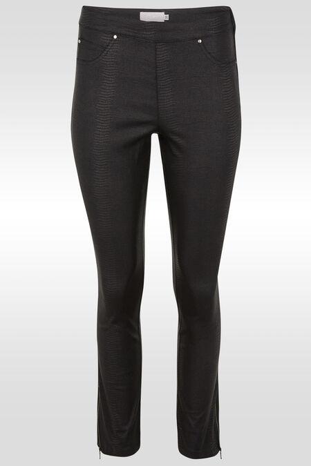 Pantalon slim imprimé serpent - Noir