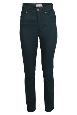 Slim broek met hoge taille, Emerald groen