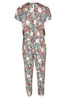 Jumpsuit met tropische print, Multicolor