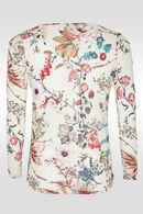 T-shirt imprimé floral, multicolor
