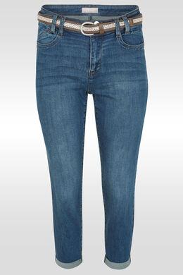 Kuitbroek in jeans met riem, Denim
