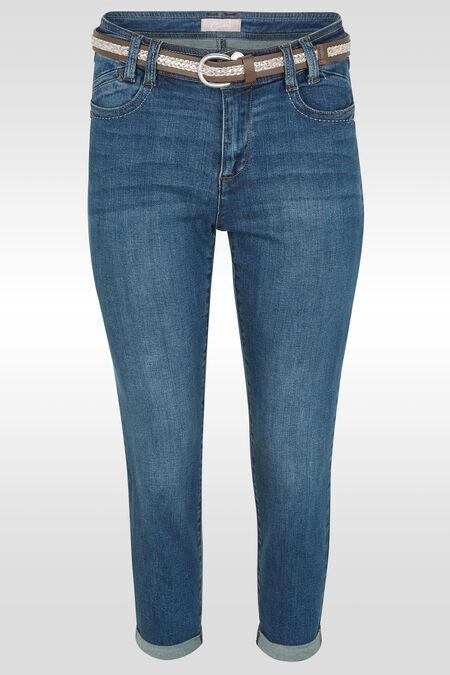 Kuitbroek in jeans met riem - Denim