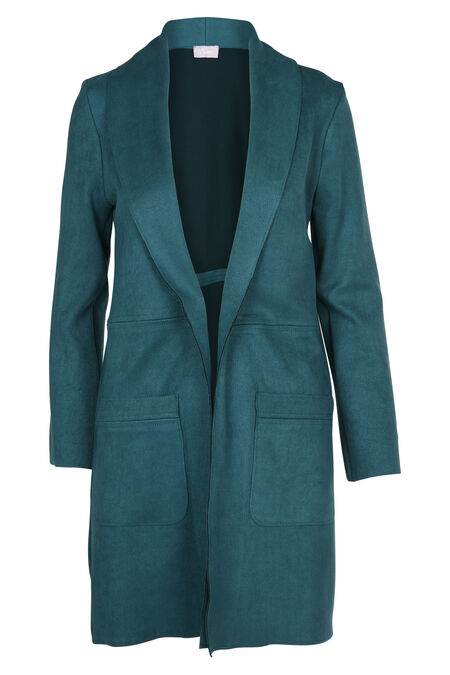 Lange jas in suèdine - Emerald groen