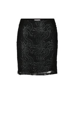 Feestelijke rok met lovertjes, Zwart