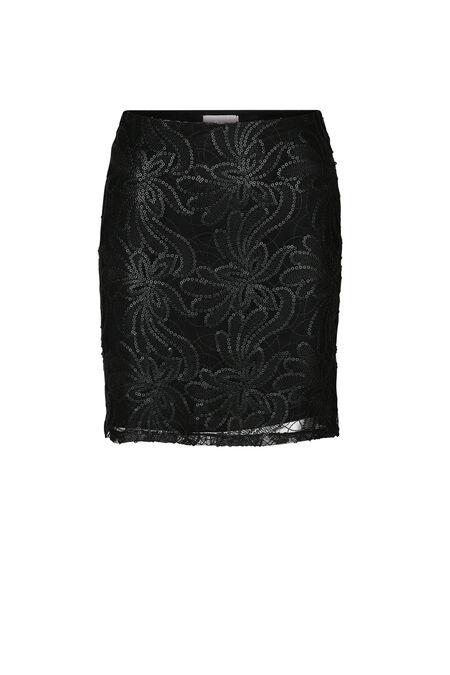 Feestelijke rok met lovertjes - Zwart