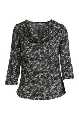 T-shirt met camouflageprint, Antraciet