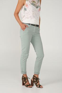 Pantalon chino coupe droite, Vert d'Eau