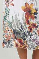 Robe longue imprimé fleuri, Blanc