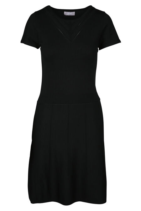 Knielange jurk - Zwart