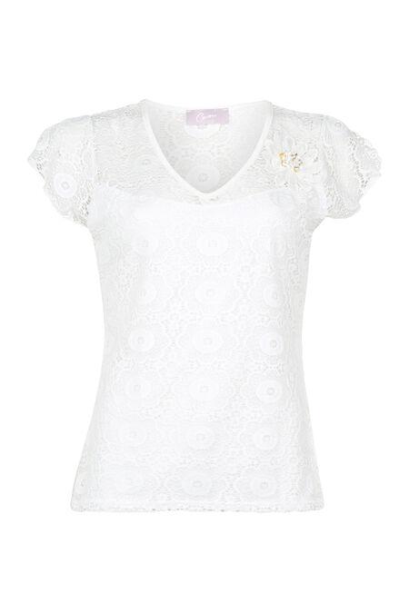 T-shirt en dentelle - Ecru