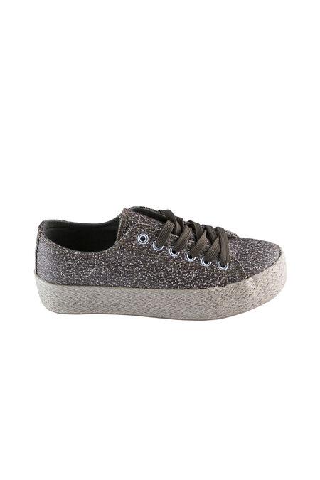 Schoenen met gevlochten plateauzolen - Kaki