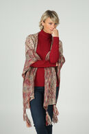 Poncho in tricot, Bordeaux