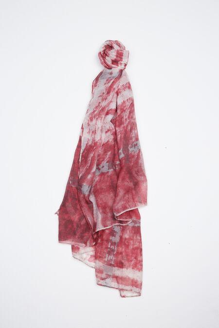 Foulard imprimé abstrait - Rose