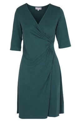 Fijn gedrapeerde jurk, Emerald groen