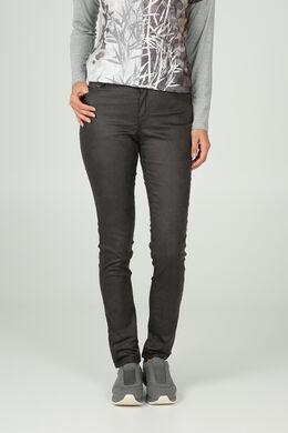Pantalon enduit slim, Noir