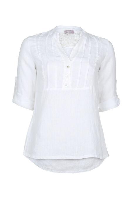Tuniek in linnen met lovertjes - Wit
