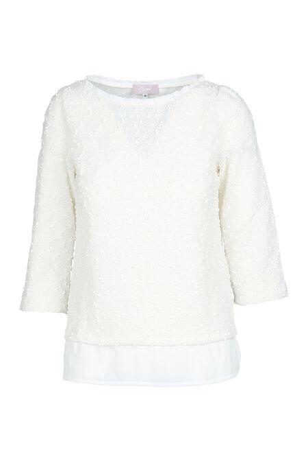 Sweater met lusjes en lovertjes - Ecru