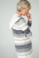 Lange, gestreepte cardigan, Marineblauw