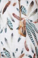 Bloes met pluimenprint, Ecru