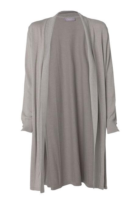 Long cardigan détail paillettes - Beige