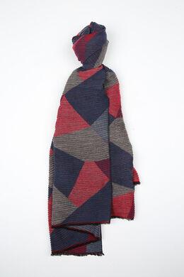 Sjaal met geometrisch motief, Rood