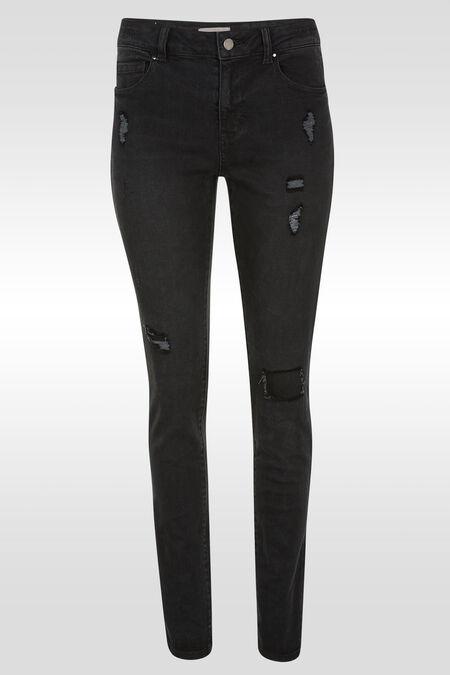 Jeans slim déchirures - Black Denim