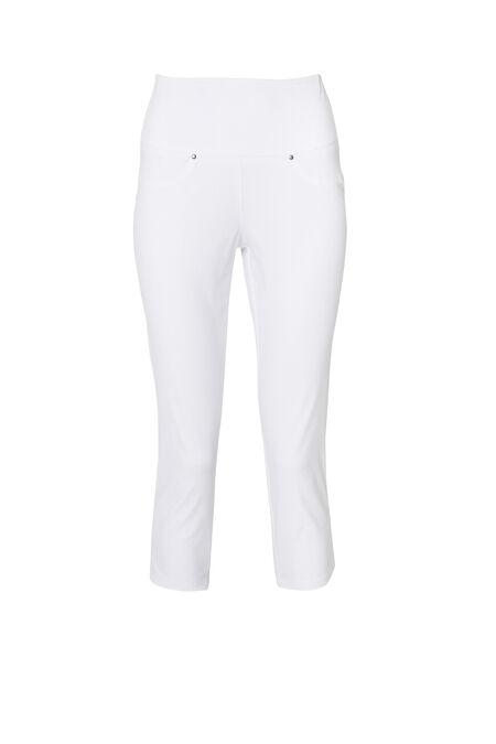 Pantacourt matière stretch - Blanc