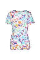 T-shirt met veelkleurige cirkels, Multicolor