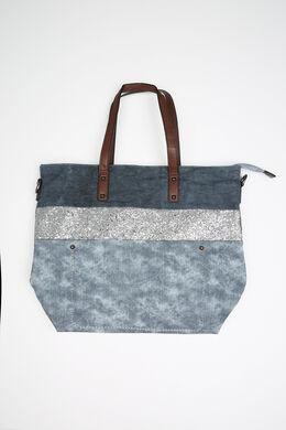 Grand sac effet jeans et paillettes, Denim