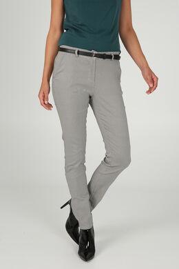 Pantalon imprimé avec ceinture, Noir/Taupe