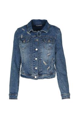 Kort jeansjasje met borduurwerk, Denim