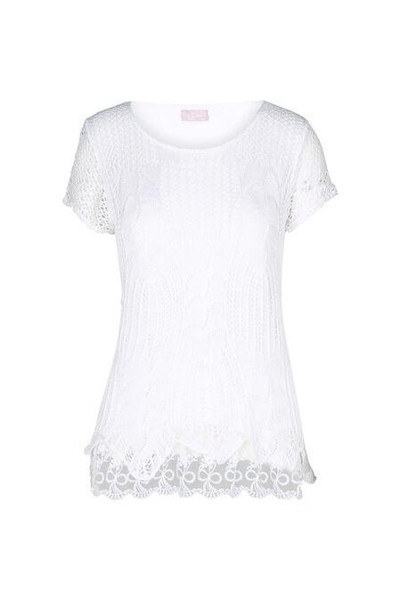 Tunique en crochet - Blanc