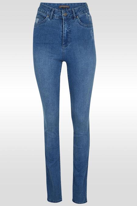 Jeans extralong détail de strass - Denim